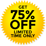 GET 75% OFF LIMITED TIME ONLY